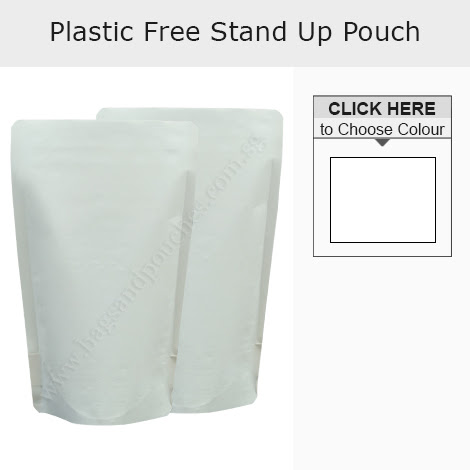 Plastic Free Stand Up Pouches No Zipper