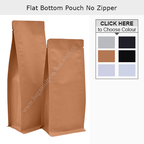 Flat Bottom Pouch No Zipper