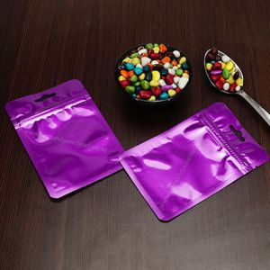 Three Side Seal Pouches With Zipper & Euro Slot